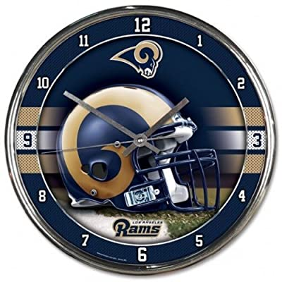 Nfl Football Team Chrome Wall Clock