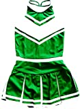 Little Girls' Cheerleader Cheerleading Outfit Uniform Costume Cosplay X-Small 2/7 (Green/White)