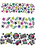 Amscan Confetti Value Pack, Totally 80s!