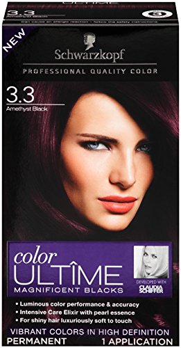 buy schwarzkopf ultime hair color cream 33 amethyst black 203 ounce online at low prices in india amazonin - Hair Color Black Cherry