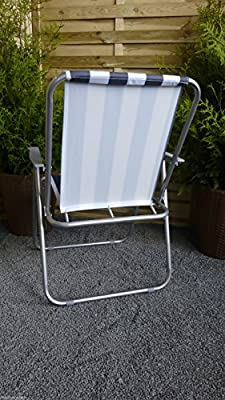 Klappstuhl mit Stahlrahmen weiß grau Campingstuhl Stuhl von Meinposten auf Gartenmöbel von Du und Dein Garten