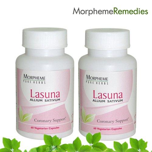 Morpheme Garlic (Lasuna) - High Blood Pressure Supplement - 500Mg Extract - 60 Veg Capsules - 2 Combo Pack