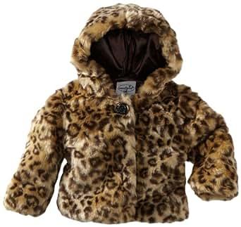 Amazon.com: Mud Pie Baby Girls' Leopard Faux Fur Coat