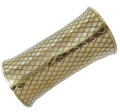Iba Ethnic Tribal Large Gold Tone Fashion Cuff