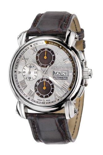 Roberto Cavalli R7241672015 - Reloj cronógrafo automático unisex, correa de cuero color negro