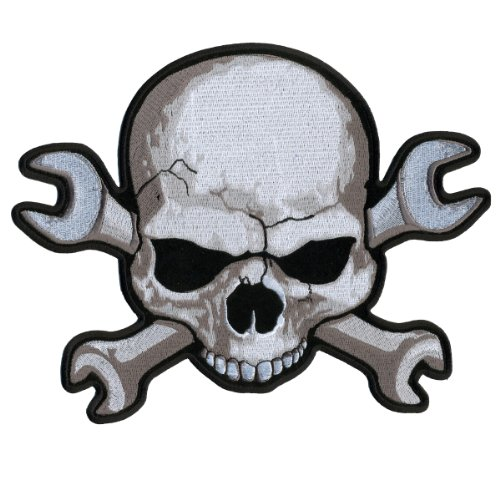 Hot Leathers Skull Wrenchbones Patch (4