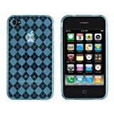 HM Blue and White Polka Dot Pattern Hard Case with Red Trim and Anchor Design for Apple Iphone 4s / 4 (At&t, Verizon, Sprint)