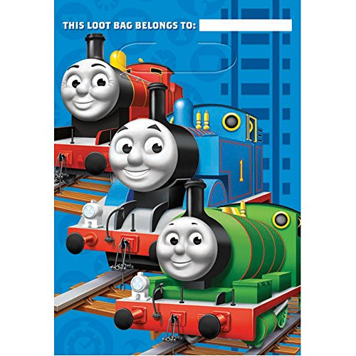 Thomas The Tank Party Favor Loot Bags 8 Pack