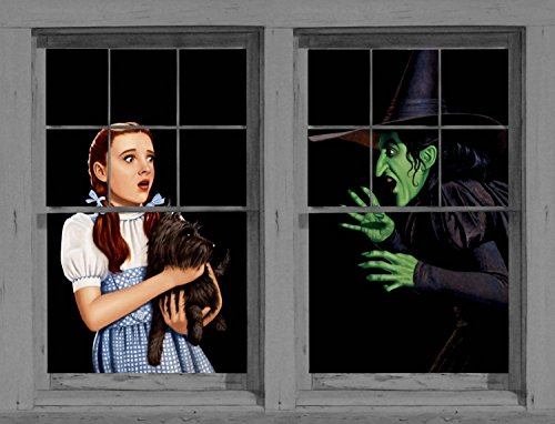WOWindow Posters Dorothy and Wicked Witch Classic Halloween Window Decoration, Includes Two 3 by 5 feet Posters