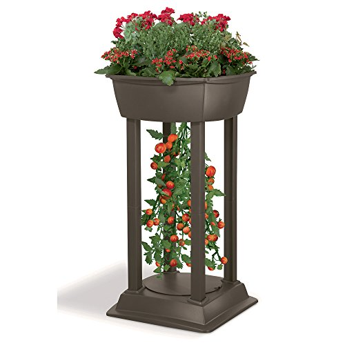 Suncast PLT2500 44-Inch by 21-Inch by 21-Inch Upside Down Tomato Tower Resin Garden Station (Tomato Patio compare prices)