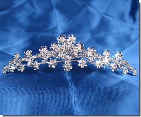 bridal headpieces With Crystal Flowers 71644