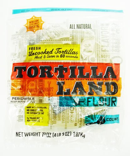 Uncooked Flour Tortillas by Tortillaland - 8 inch - 44 Count in Pack