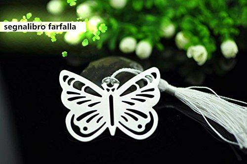 Matrimonio Tema Farfalla : Segnalibro matrimonio battesimo tema farfalla in metallo