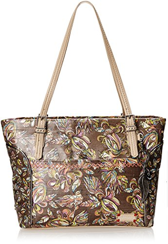 Sakroots Artist Circle Medium Satchel, Sterling Treehouse, One Size