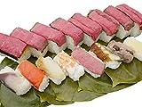 お歳暮/迎春≪こおりずし≫平宗のミニ柿の葉ずし8種4袋と『大和牛』ローストビーフ寿司の詰合せ