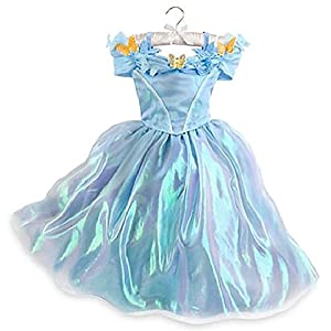 Disney Store Authentic Girls Cinderella Live Action Blue Butterfly Costume Dress (3/4)