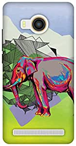 The Racoon Grip Elephant Dimensions hard plastic printed back case / cover for Vivo X Shot