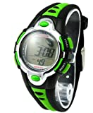 Kids Watches Flash Lights 50m Waterproof Chronograph Digital Sports Watch - Green Color