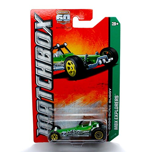 2006 DUNE BUGGY (GREEN) * MBX EXPLORERS * 60th Anniversary Matchbox 2013 Basic Die-Cast Vehicle (#119 of 120) - 1