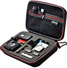 Smatree® SmaCase G160 EVA Carrying and Travel Case (8.6 X6.7 X2.7) with Foam for Gopro® HD Hero4, 3+, 3, 2, 1 Camera camcorder and Essential Accessories - Black