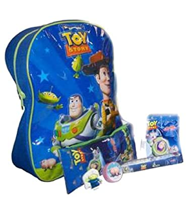 New Kids Disney Toy Story Backpack And Stationery Set