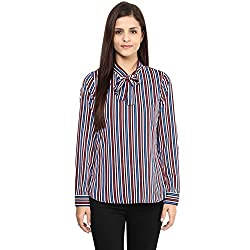Annabelle by pantaloons Women's Casual Shirt (205000005551353_Navy_M)