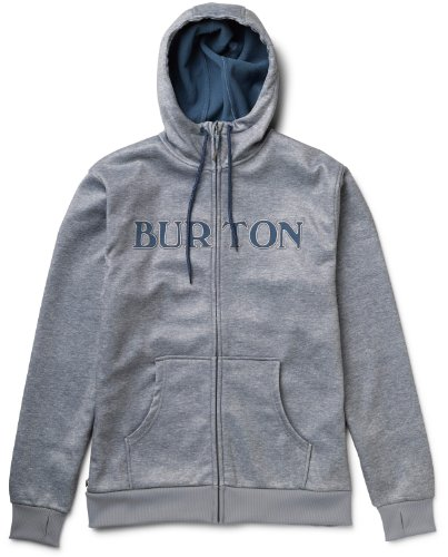 Burton Bonded Hoodie Pewter Heather Mens Sz L