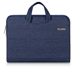 PLEMO Denim Fabric 15-15.6 Inch Laptop / Notebook Computer / MacBook / MacBook Pro Case Briefcase Bag Pouch Sleeve, Blue
