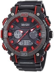 Nautec No Limit Herren-Armbanduhr XL Akula AD Analog - Digital Quarz Plastik AK QZ-AD/PCBKPCGYBK-RD
