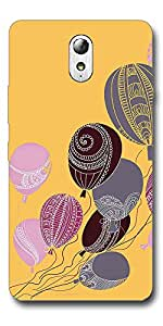 SEI HEI KI Designer Back Cover For Lenovo Vibe P1 M - Multicolor
