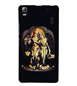 99Sublimation Lord Krishna and Radha 3D Hard Polycarbonate Back Case Cover for Lenovo A7000, Lenovo A7000 Plus, Lenovo K3 Note