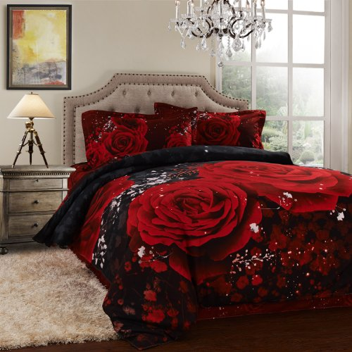 Red Rose Bedding front-1075728