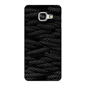 Black Rope Pattern Back Case Cover for Galaxy A3 2016