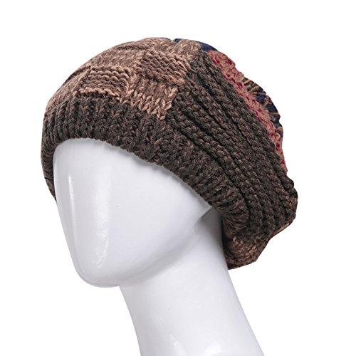 inverno/Cappello di inverno/Calde cuffie di lana Cap/ Signora calza protezione/ shopping Joker maglia cappello-A Unica