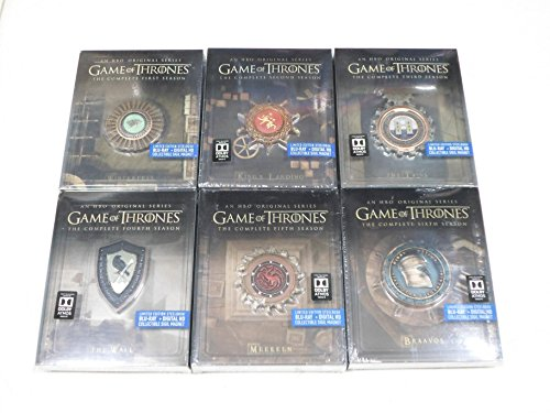 Game of Thrones 1 2 3 4 5 6 The Complete Seasons 1 - 6 Limited Edition Steelbooks with Collectible Sigil Magnet (Blu Ray + Digital HD)