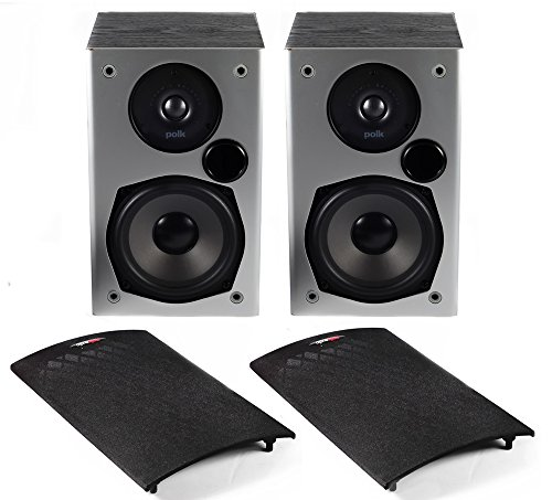 2-x-polk-audio-m10-bookshelf-front-satellite-speakers-100w-black-wood-grain