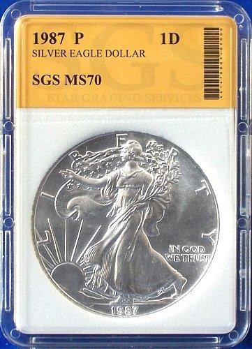 1987 American Silver Eagle S$1