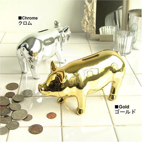 Pig Objet Bank ピッグ オブジェ バンク [S] 貯金箱  ゴールド