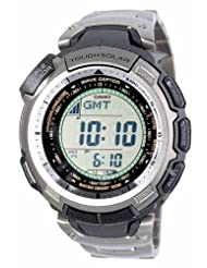 Casio Men's PAW1300T-7V Pathfinder Multi-Band Solar Atomic Silver Watch