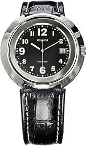 Jowissa Men's J7.009.L Pegasus Slim Black Dial Leather Date Watch