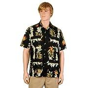 Black Bird of Paradise Hawaiiabera Shirt