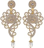 Gudsons Golden Metal Dangle and Drop Earring for Women (GND-EARRINGS-GOLD-ER012)