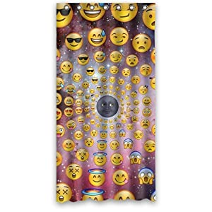 "Amazon.com - Emoji Shower Curtain 48""x72"" -"