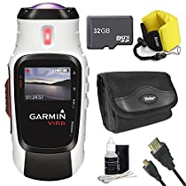 Garmin VIRB Elite Action Camera 010-01088-10 Ultimate Bundle with 32GB Micro SD Card, HDMI Cable, Floating Strap, All in One Card Reader, Carrying Case, and Lens Cleaning Kit