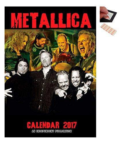 Confezione - 2 Articoli - Metallica 2017 Calendario Parete - Dimensioni Da Chiuso : 42 x 29.5 cm (41.9x29.2cm) e un Set di 4 Cuscinetti Adesivi Riposizionabili