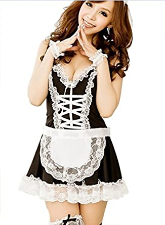 Spicy girl Sexy Maid Backless Sleepwear Corset Exotic Lingerie Cosplay Bodysuit NP-L