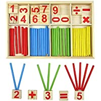 New Wooden Montessori Mathematics Material Early Learning Counting Toy For Kids