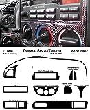 Prewoodec Cockpit Dekor f�r Daewoo Rezzo/Tacuma KLAU 04.2002 - 08.2005 Carbon-Fiber (Exklusive 3D Fahrzeug-Ausstattung - Made in Germany)