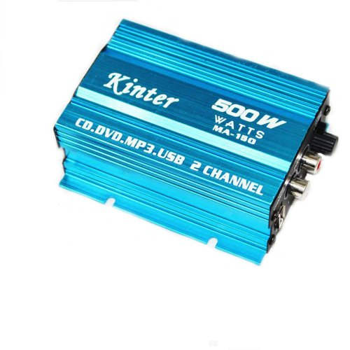 Hiyadeal 500 Watt 2 Channel Car Audio Power Amplifier Amp