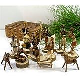 Nativity Set Handmade in Kenya From Banana Fiber